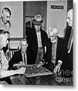 Old Checker Game Metal Print