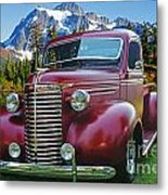 Old Chevy Pickup Ca5073-14 Metal Print