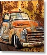 Old Chevy Rust Metal Print