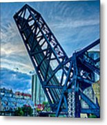 Old Chicago Draw Bridge Metal Print