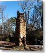 Old Chimney Still Standing Metal Print