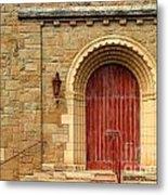 Old Church Door Metal Print