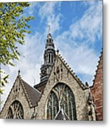 Old Church In Amsterdam Metal Print
