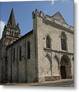 Old Church - Loire - France Metal Print