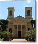 Old Church - Macon - Burgundy Metal Print