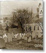 Old Church's Cemetery Graveyard Boston Massachusetts Circa 1900 Metal Print
