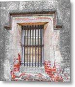 The Old City Jail Window Chs Metal Print