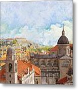 Old City Of Dubrovnik Metal Print