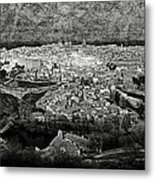 Old City Of Toledo Bw Metal Print