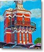 Old Clock Tower Metal Print