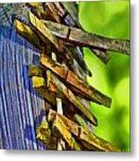 Old Clothes Pins II - Digital Paint Metal Print