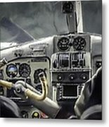 Old Cockpit Metal Print
