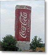 Old Coke Silo Metal Print