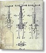 Corkscrew Patent Metal Print