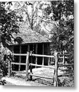 Old Corral And Barn Metal Print