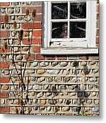 Old Cottage Window Sussex Uk Metal Print