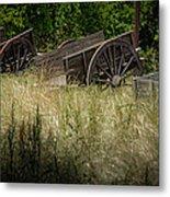 Old Cotton Bale Wagons Metal Print