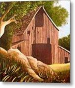Old Country Barn Metal Print by Janis  Tafoya