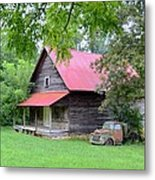 Old Country Cabin Metal Print by Bob Jackson