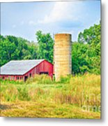 Old Country Farm And Barn Metal Print