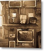 Old Country Stove Metal Print