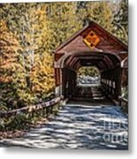 Old Covered Bridge Vermont Metal Print