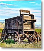 Old Covered Wagon Metal Print