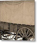 Old Covered Wagon Out West Metal Print by Dan Sproul