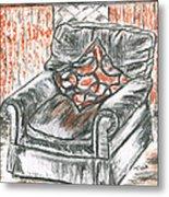 Old Cozy Chair Metal Print