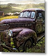 Old Dairy Farm Truck Metal Print
