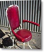 Old Dentist Chair Metal Print