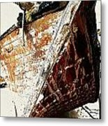 The Old Dhow Metal Print by Peter Waters