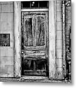 Old Door - Bw Metal Print