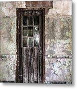 Old Door - Abandoned Building - Tea Metal Print by Gary Heller