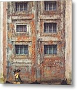 Old Door - Aged - Cracked - Abandoned Metal Print
