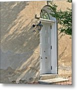 Old Door And Stucco Wall Metal Print