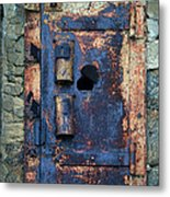 Old Door At Abandoned Prison Metal Print