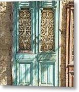 Old Door In Jersusalem Israel Metal Print