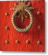 Old Door Knocker Metal Print