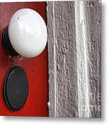 Old Doorknob Metal Print
