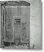 Old Doorway Bw Metal Print