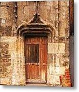 Old Doorway Cahors France Metal Print by Colin and Linda McKie