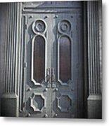 Old Doorway Quebec City Metal Print