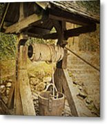 Old Draw Well Metal Print