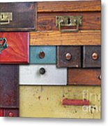 Old Drawers - In Utter Secrecy Metal Print
