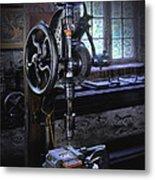 Old Drill Press Metal Print