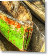 Old Dug-out Canoes Metal Print
