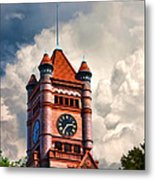 Old Dupage County Courthouse Clouds Metal Print