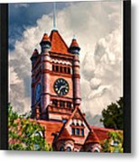 Old Dupage County Courthouse Clouds Poster Metal Print