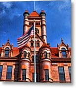 Old Dupage County Courthouse Flag Metal Print